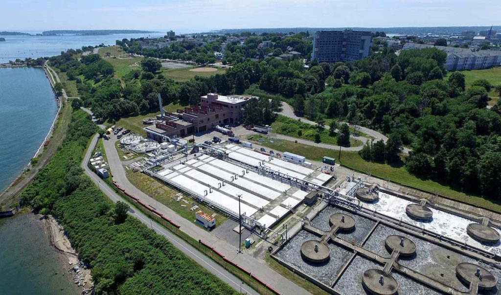The sewer treatment plant in Portland's East End.