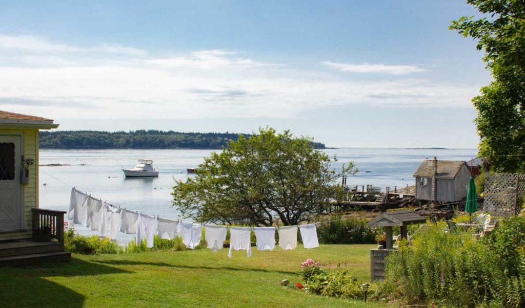 A summer scene on Cliff Island.