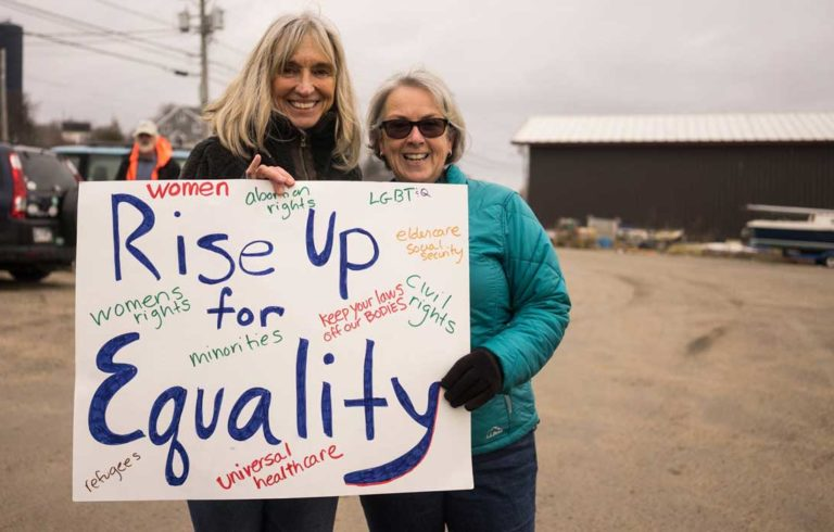 The women's march on Vinalhaven.