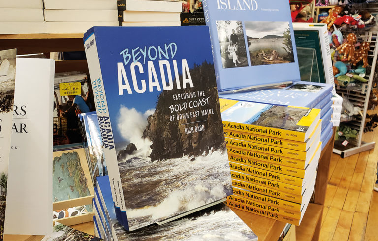 Beyond Acadia on display in a local bookstore. PHOTO: SARAH CRAIGHEAD DEDMON