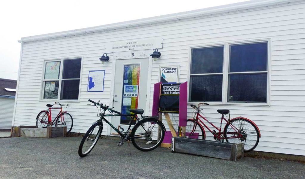 Bicycles ready to be worked on in Milbridge.