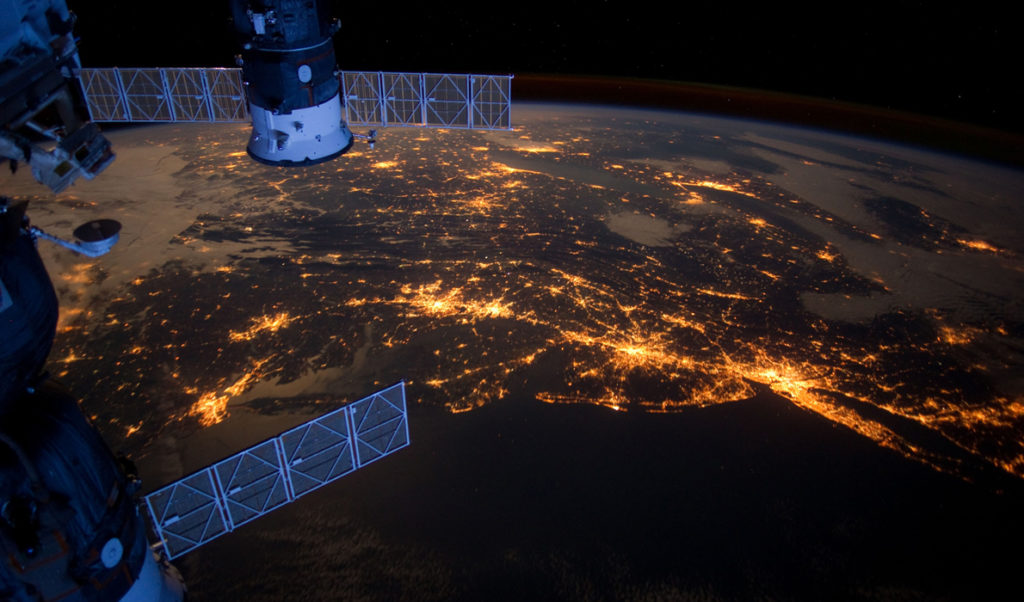 The Eastern Seaboard as seen from space.