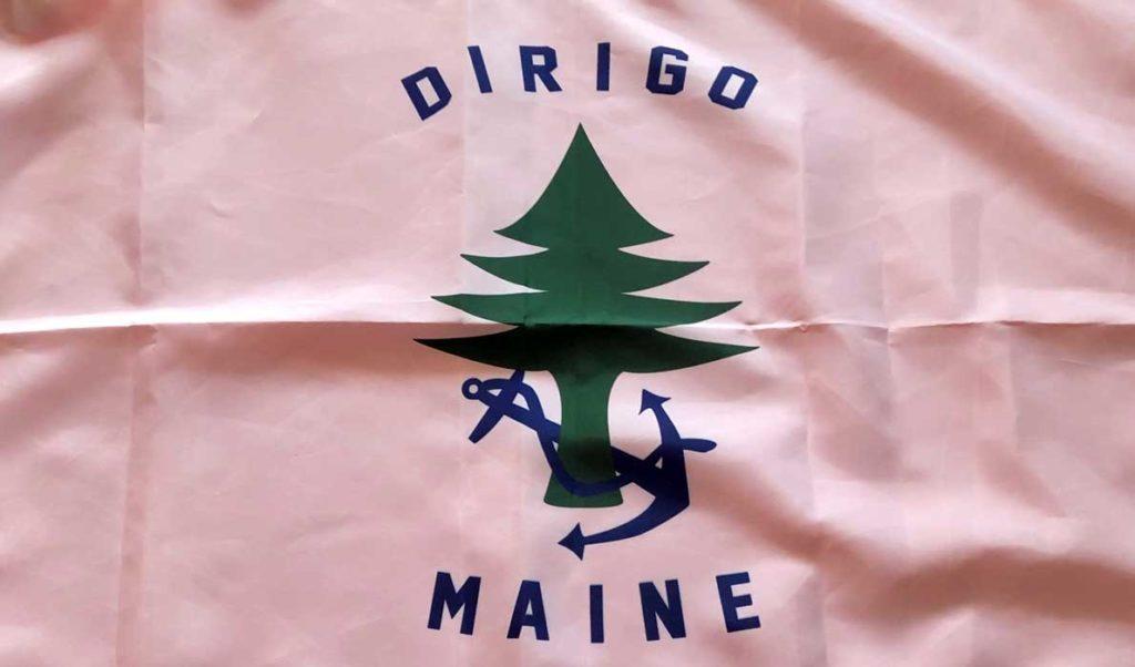 The Maine State Merchant Marine flag.