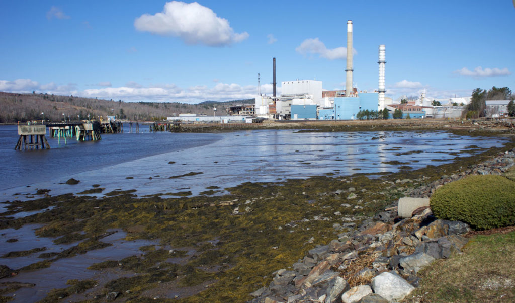 The former Verso paper mill in Bucksport is being dismantled and scrapped