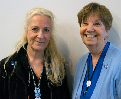 Cathy Ramsdell, left, is executive director of Friends of Casco Bay, and  Mary Cerullo is associate director.