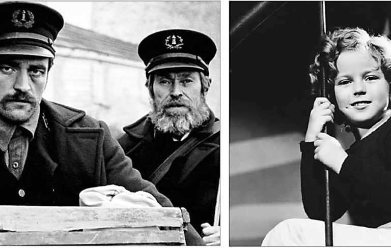 Production still from The Lighthouse (2019) and Captain January (1936)