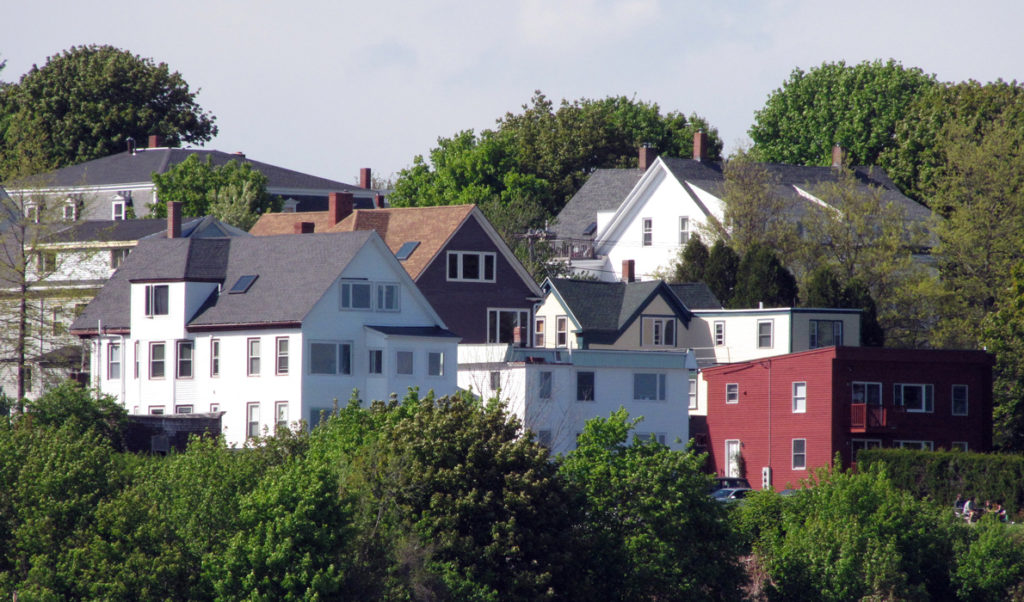 Housing in Portland's Munjoy Hill neighborhood has increased in value dramatically in recent years.
