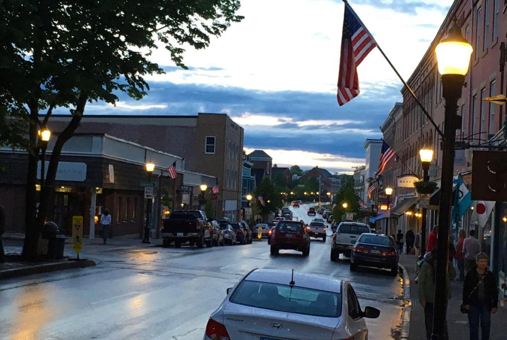 """A Friday night """"art walk"""" in Rockland."""