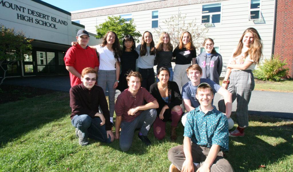 Mount Desert Island High School's Eco Team includes: Winslow Jeffery