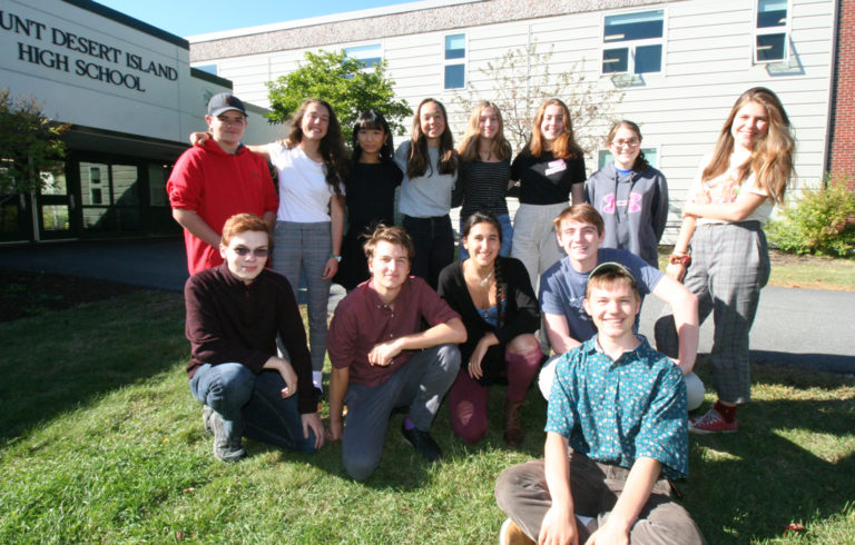 Mount Desert Island High School's Eco Team includes: Winslow Jeffery