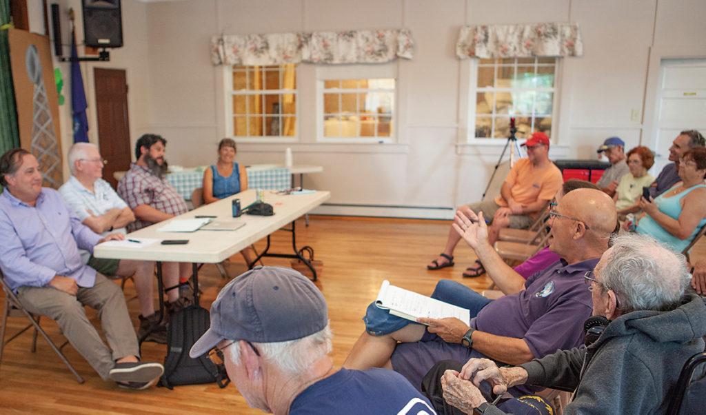 Cliff Island residents gathered to celebrate establishing broadband service on the island