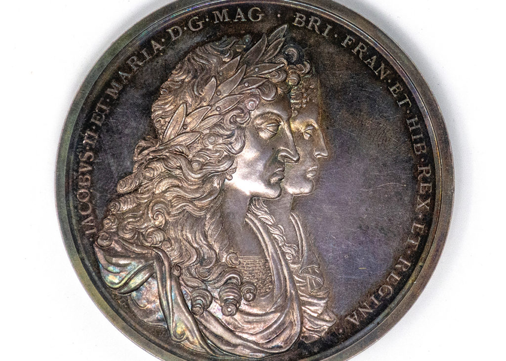 The medallion originally issued by King James II