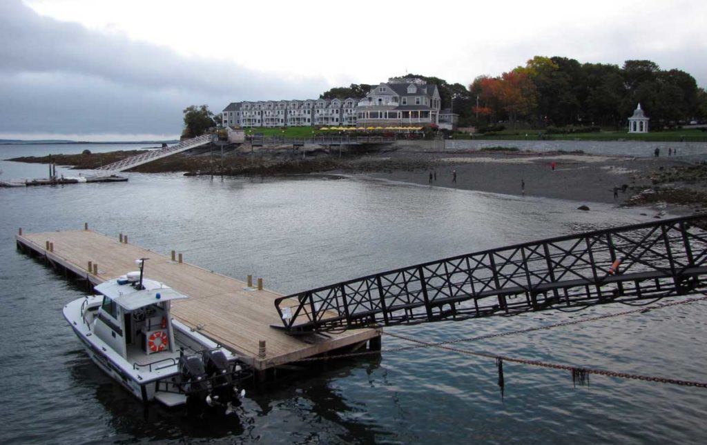 This file image shows Bar Harbor's town landing