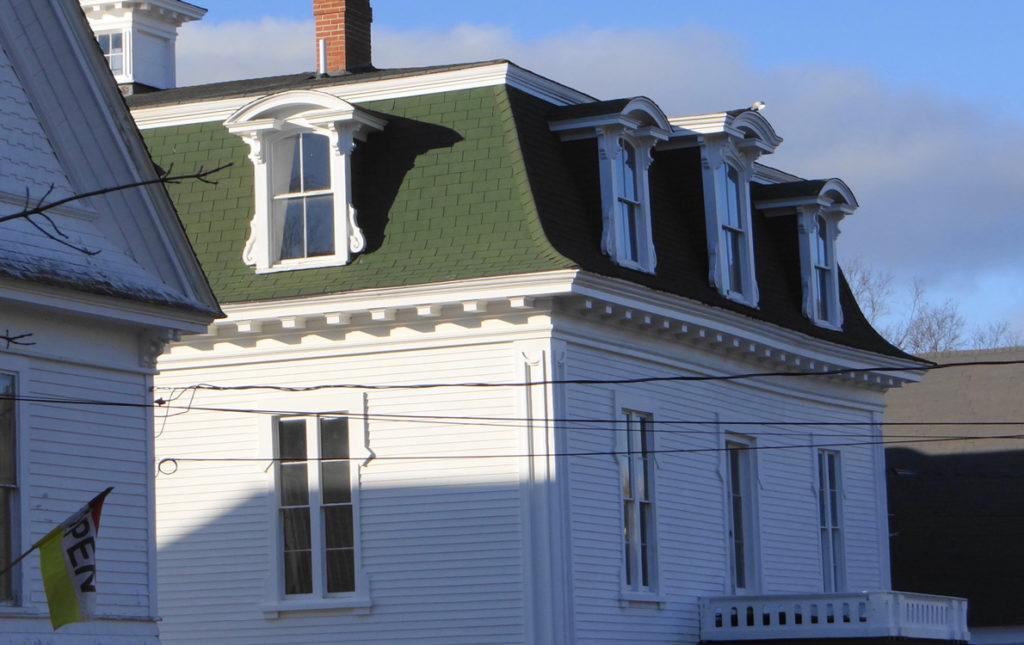 An older house roof in Deer Isle.