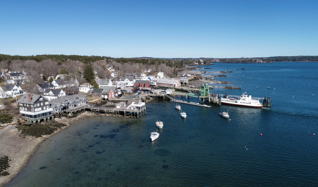 A view of North Haven from the air.