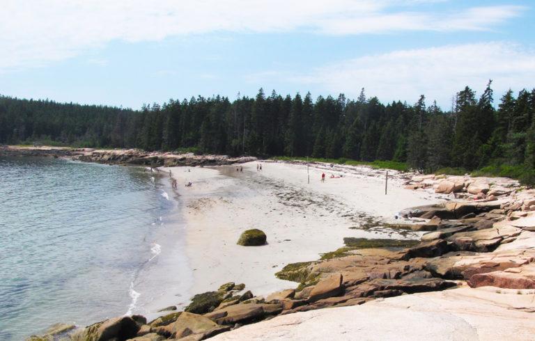 Fine Sand Beach on Swan's Island.