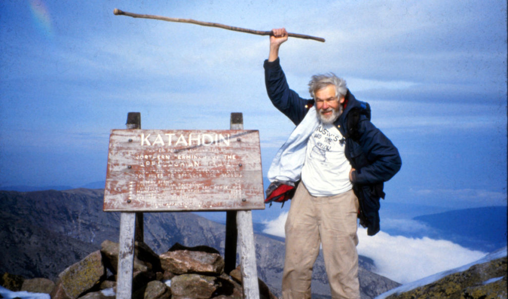Bob Cummings atop Mount Katahdin.