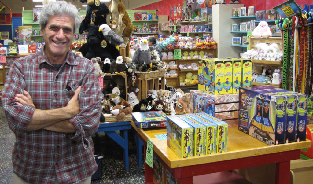 Richard Aroneau at Planet Toys in Rockland.
