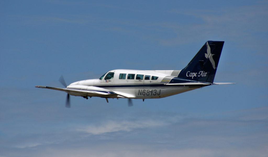 A Cape Air Cessna in flight.