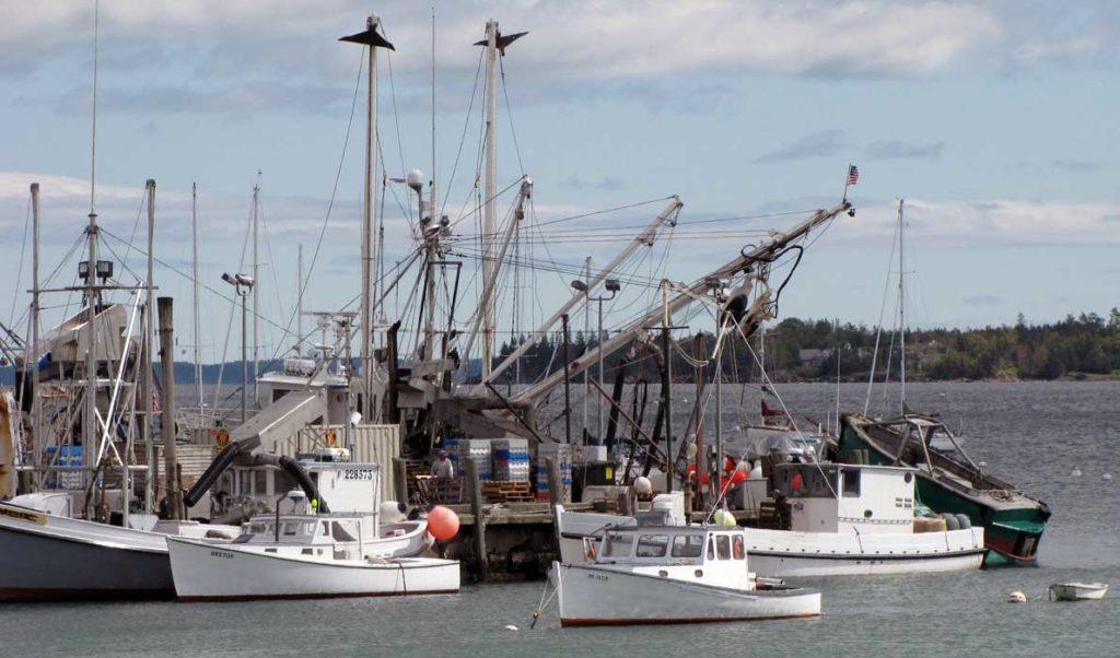 Rockland's fish pier.
