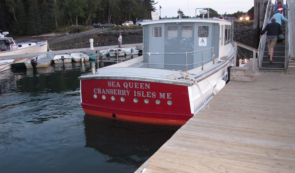 Beal & Bunker's Sea Queen at the dock in Northeast Harbor.