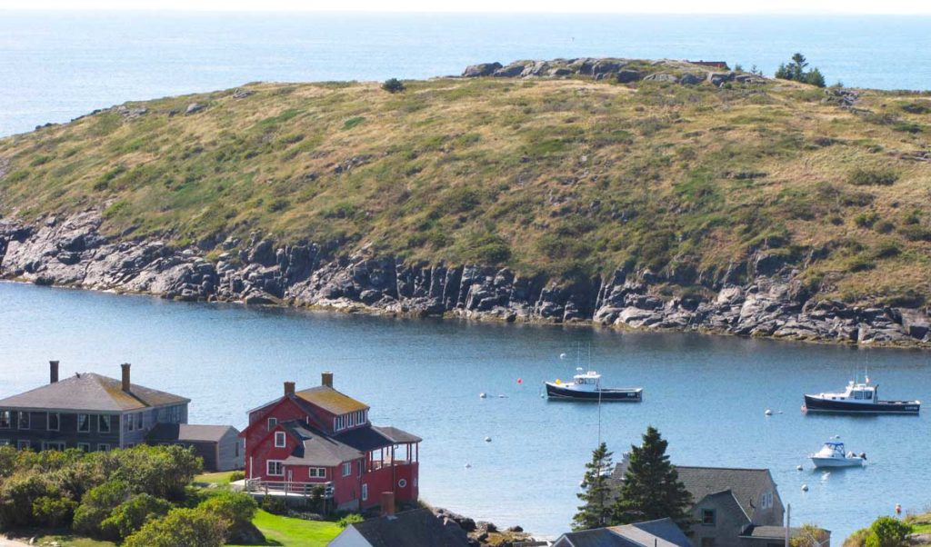 The view from the hill on Monhegan.