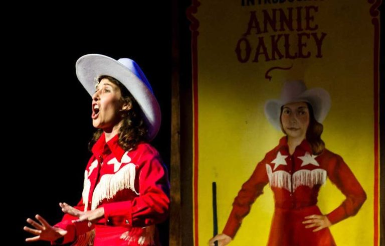 Courtney Naliboff as Annie Oakley in the North Haven production of Annie Get Your Gun.