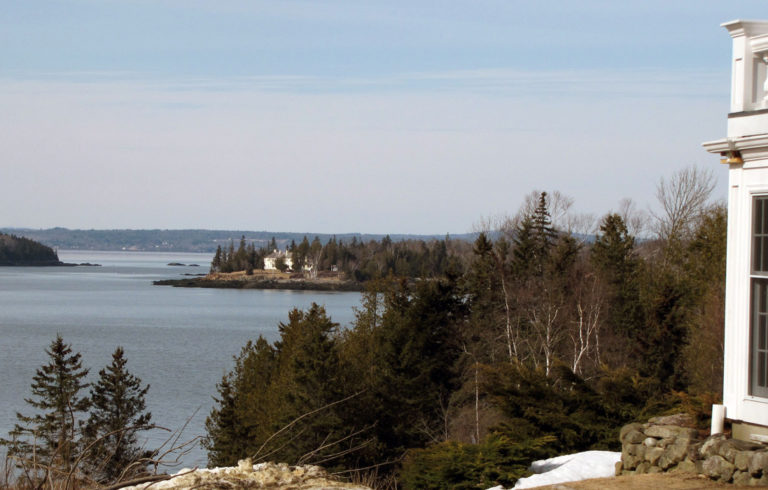 Looking north from the western shore of Islesboro