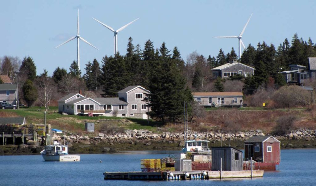Wind turbines on Vinalhaven.