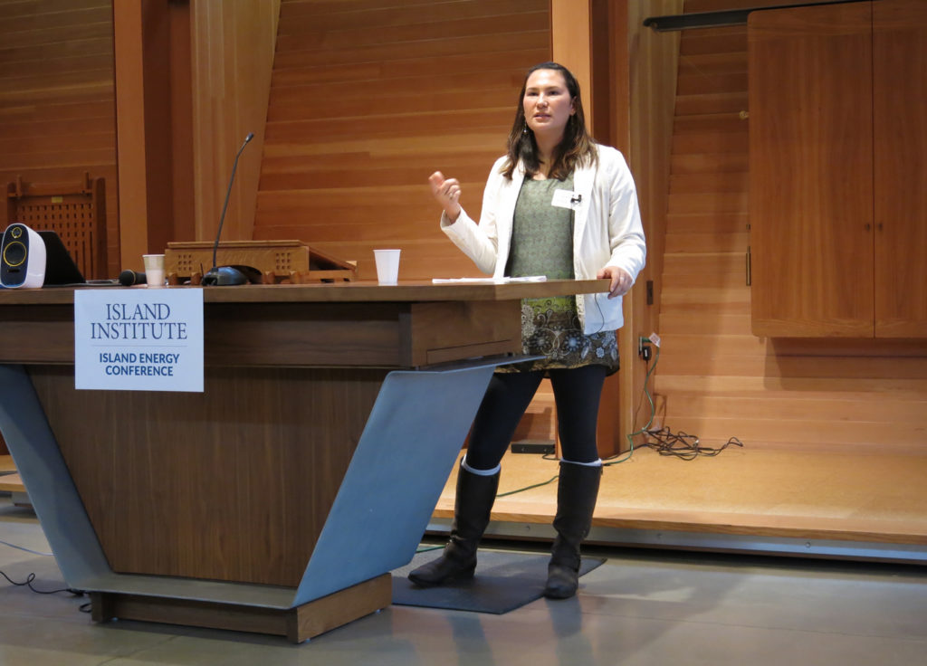 AlexAnna Salmon speaks at the Island Energy Conference on November 6