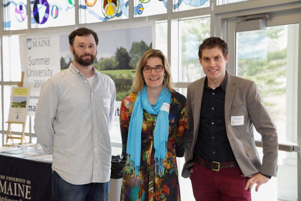 Archipelago Director Lisa Mossel Vietze with presenters Jared Cowan and Orlando Johnson
