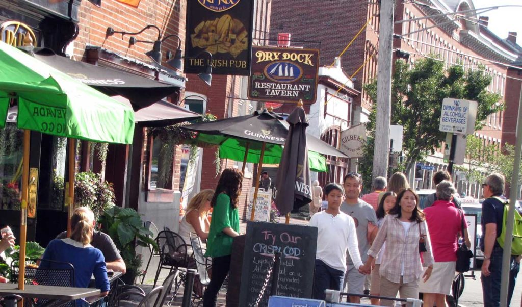 Commercial Street in Portland.