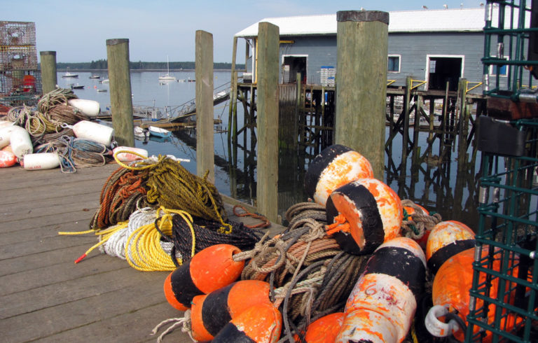Lobster gear on the docks at Islesford.