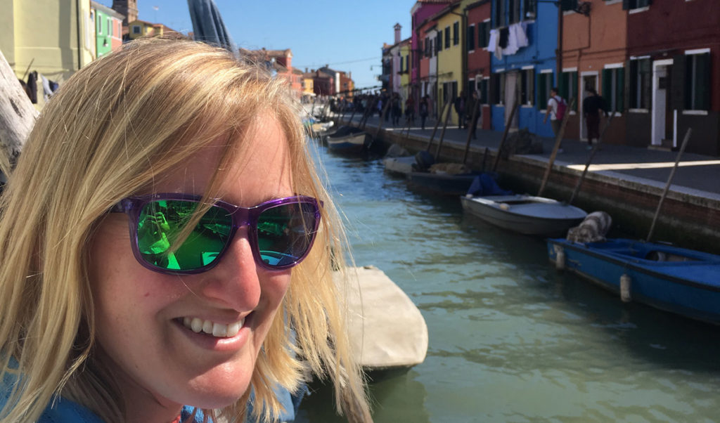 Marissa McMahan in Venice.