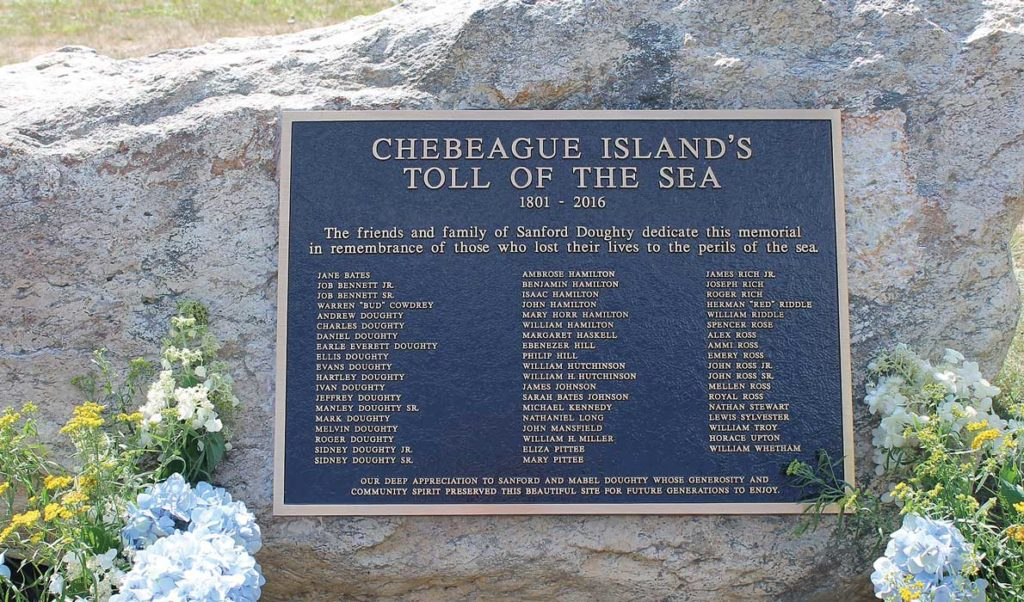The Toll of the Sea memorial on Chebeague Island.