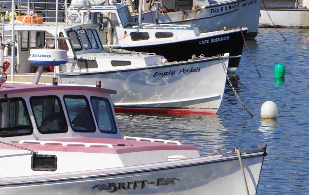 Boat bows.