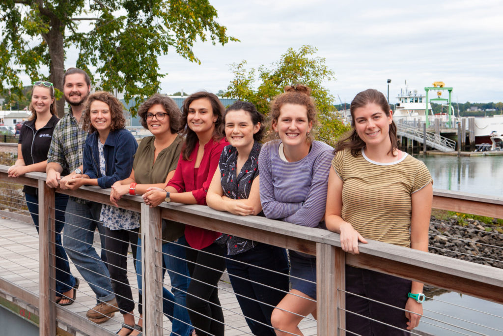 Peaks Island Fellow Nell Houde (second from right) pictured with the other 2018-19 Island Fellows.