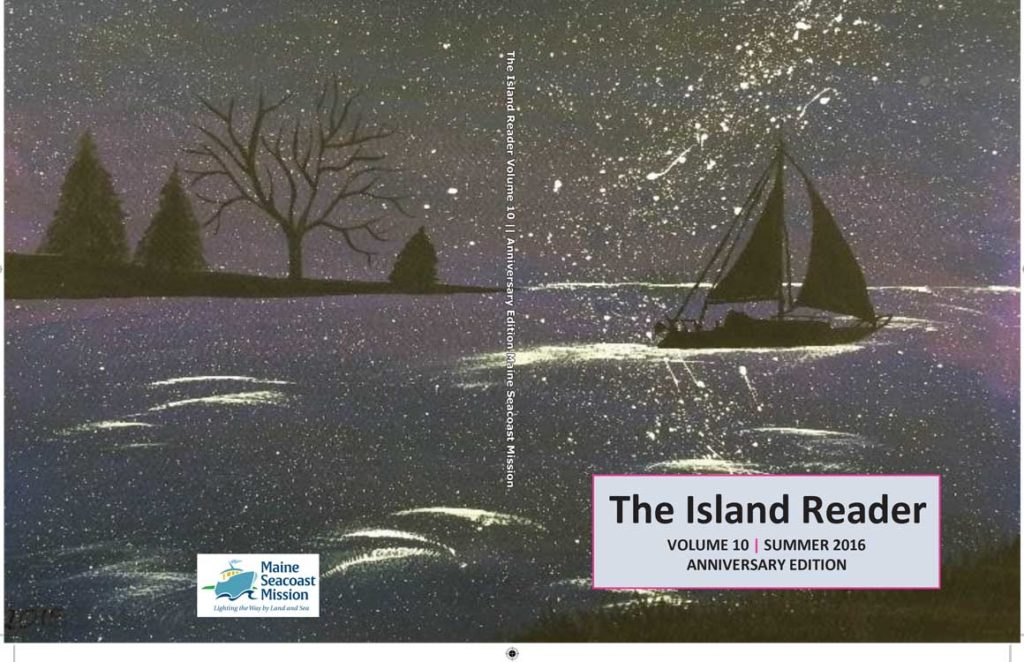 The cover art for the 2016 edition of The Island Reader was created by Islesboro student Cheyenne Houle.