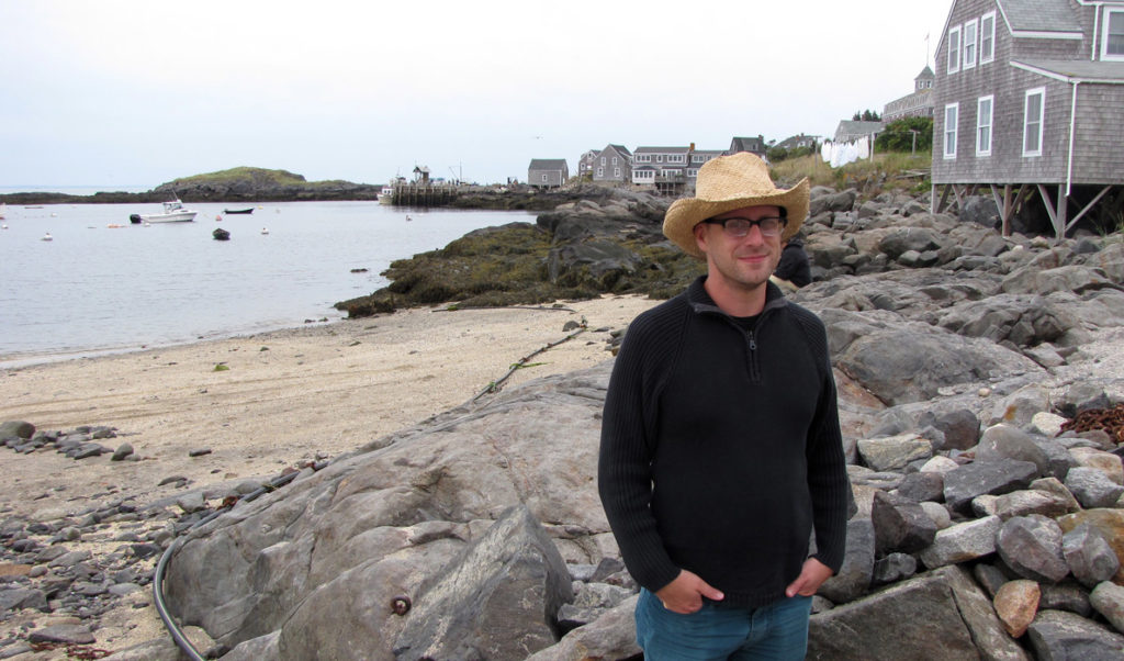 Dylan Metrano on Monhegan.