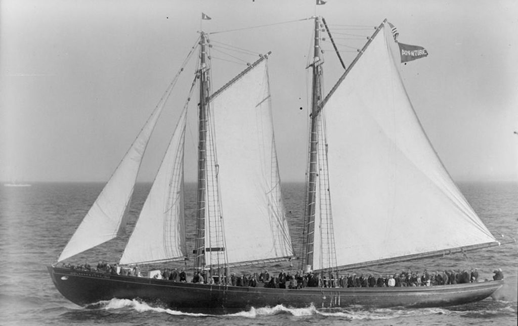 The Schooner Adventure in a photo taken in 1926.