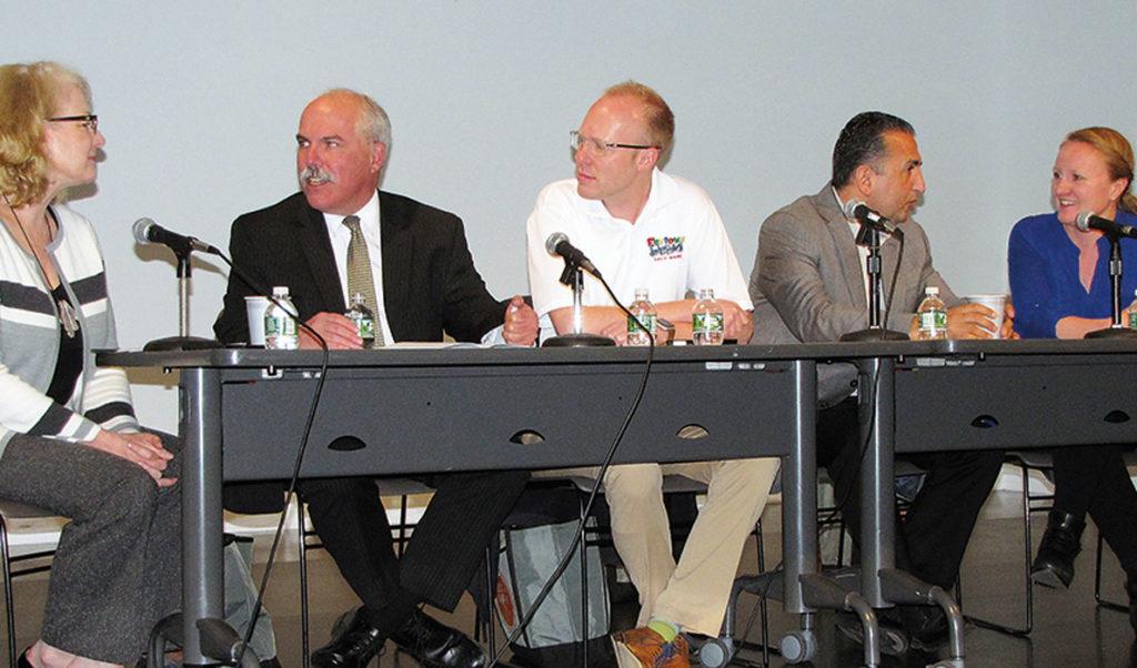 From left: panel moderator Carol Coultas