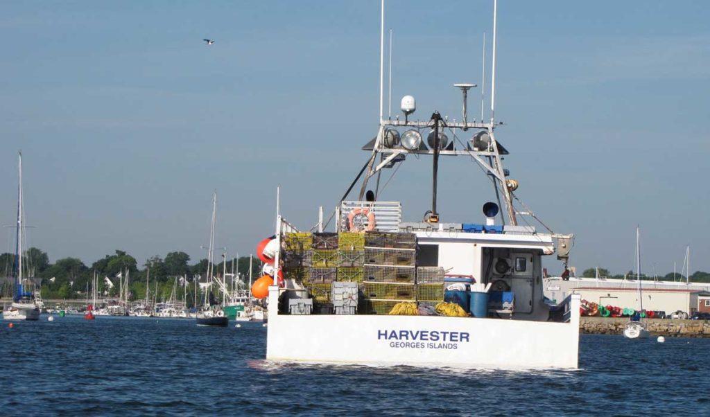 Harvester in Rockland Harbor.