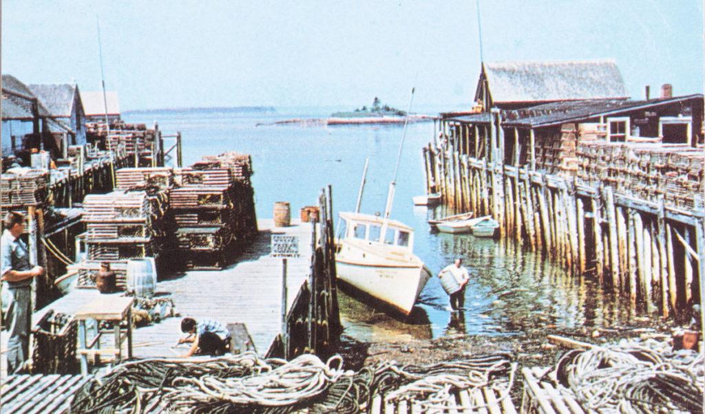 A 1970s-vintage postcard showing Beals Island.