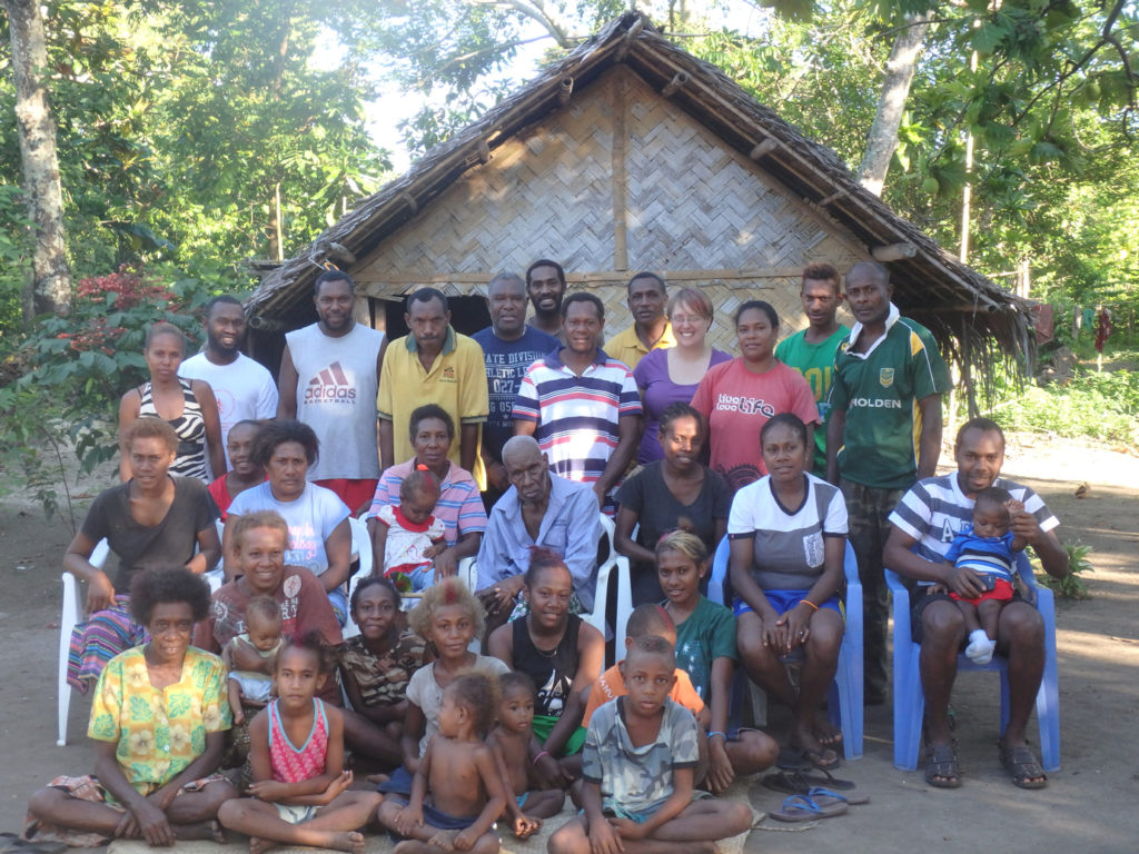 A part of Mansosoi and Kate's immediate family gathered to celebrate Christmas