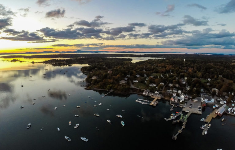 An aerial view over North Haven