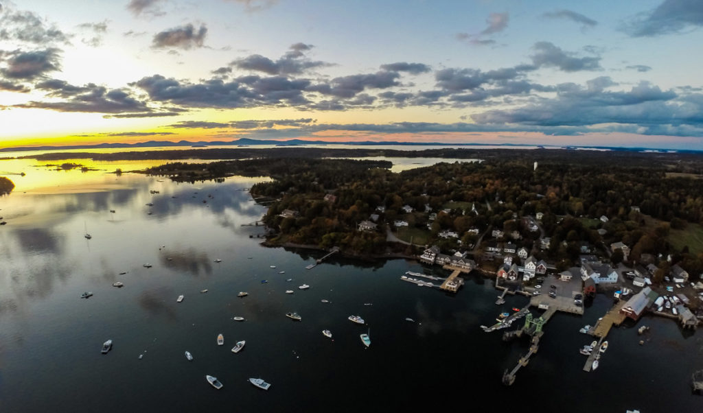 A drone view over North Haven