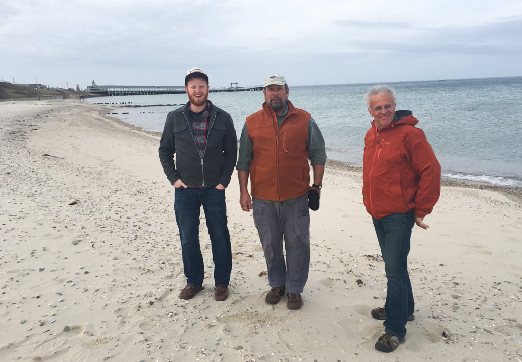 On the beach on Martha's Vineyard. From L-R: Ben Algeo