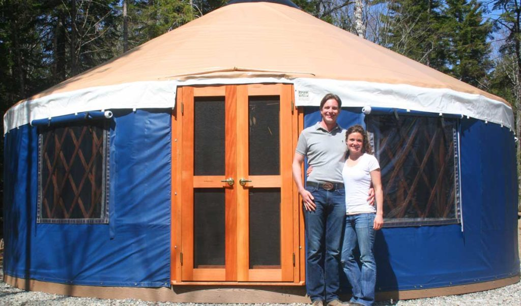 Aaron Sprague and Karen Roper are adapting the yurt for visitor lodging.