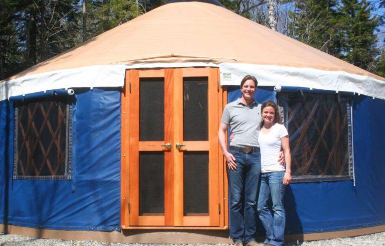 Aaron Sprague and Karen Roper are adapting the yurt for visitor lodging.