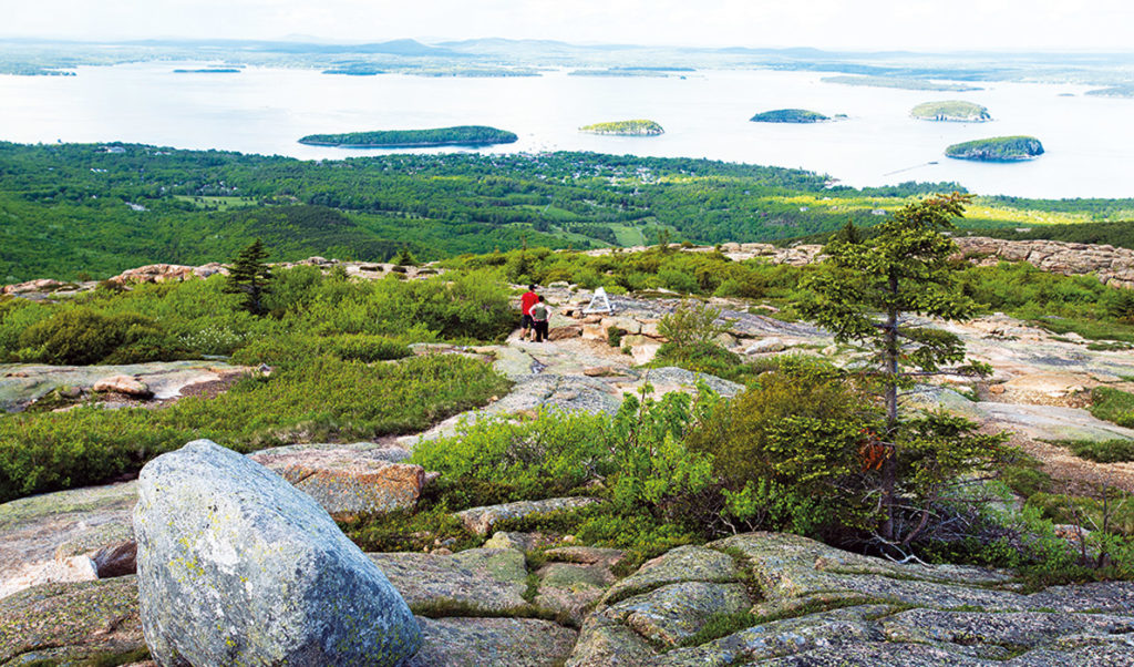 A view from Cadillac Mountain in Acadia National Park.